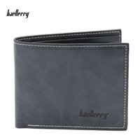 Wholesale Leather Bifold Money Clip Wallet - Baellerry High Quality Brand New Mens Leather Wallet Pockets Card Clutch Bifold Purse For Men Coin Bags Fashion Money Clips Purses