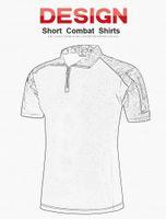 Wholesale Pink Tactical Camo - Summer Combat Shirt Tactical Short Sleeves Top Polo Shirts Hunt Clothe camouflage Frog Shirts BDU Army Combat Clothing Camo Shirt