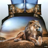 Wholesale Horse Comforter King Size - Promotion 3D Bedding Sets Animals King Size Duvet Cover Tiger Horse Luxury Soft Bed Linen Wholesale Dropshipping