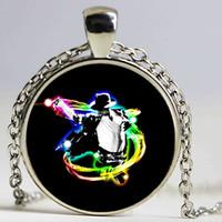 Wholesale Long Strand Crystal Necklace - Michael Jackson Pendant Necklace B&M 2016 New Punk Glass Necklace Michael Jackson Long Necklaces For Women Prime