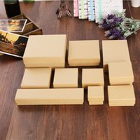 Wholesale Jewelry Packaging Bracelet Box Packing - SP98 Paper Jewelry Boxes Earring Boxes Kraft Earring Packing Box Blank Accessory Packaging Jewelry Set Box DIY Gift Boxes