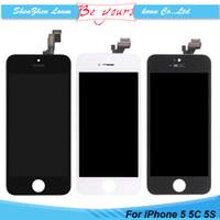 iphone 5c oem bildschirm großhandel-Für iphone 5 lcd 5 s 5c reparatur teil display touchscreen digitizer assembly ersatz a + + + grade premium oem qualität