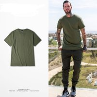 Wholesale Port Tees - Wholesale -2017 new American street fashion port wind simple army green Japanese tide tee male couple Korean version of Slim short sleeve
