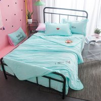 150 * 200cm Estate Sleeping Quilt Lavato Cotone Air Condition Coperta Coperte Sleeping Lunch Break Portatile Piccola trapunta sottile