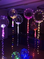 Wholesale Movie Waves - DHL ship New bobo ball wave led line string balloon light with colored light for Christmas Halloween Wedding Party children home Decoration