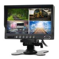 lcd-bildschirm 7inch groihandel-Rückseiten-Monitor-Auto-Monitor 4 des 7inch Rückseiten-Viererkabel-LCD-Bildschirm-Anzeige DC12V-24V für Systemüberwachung