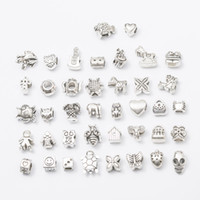 Wholesale Letter Beads Pack - Mix 1 pack 40 different styles Big Hole Loose Beads charm for DIY Jewelry Bracelet For European charms Bracelet & Necklace (WYSIWYG)M001