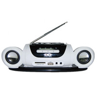 Wholesale protable mp3 player online - Mini Protable Radio FM Receiver Stereo Speaker with USB Disk SD Card MP3 Music Player Rechargeable Battery Radio Recorder White