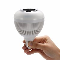 Wholesale rohs laptop online - Free DHL Colorful RGB LED Bluetooth Bulb Wireless Music Audio Speaker For iPad iPhone Smartphone Laptop E27 W Bulbs