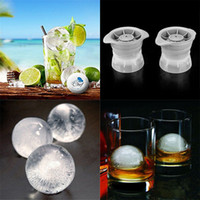Wholesale Silicone Ball Mould - 1pcs Sphere Ice Molds Silicone Ice Ball Maker Mold Round Ice Cube Balls DIY Mould 8.5*8cm