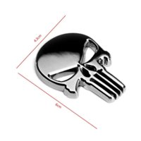 Wholesale Moto Skull - Halloween Gift 3D Skull Car Sticker Metal Ghost for Harley Davidson motorcycle Auto Moto  Sticker Car Styling for KIA Chevrolet