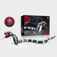 neues design radio groihandel-Neues Design Heißer Verkauf RC Snake Bionic Reptile Tier Infrarot Fernbedienung Ratlesnake Tricky Brains Early Childhood Education Toys