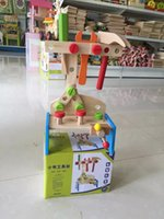 Wholesale New wooden toy Mini woking tools table wooden blocks baby educational toy baby toy Hot Sell
