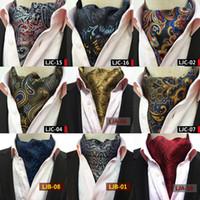 cravate à manches longues achat en gros de-Mode Rétro Paisley Cravat De Luxe Hommes De Mariage Formelle Cravat Britannique Style Gentleman Foulards En Soie Cou Cravates Costume Écharpes Business Cravate