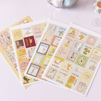 Atacado- (12 folhas / lote) DIY Vintage Paper Sticker O Pequeno Príncipe Stamp Stickers for Decoration Scrapbooking Diary Album