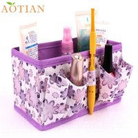 Atacado- AOTIAN Cosmetic Storage Box Bag Bright Organizer Recipiente fixo dobrável Fashion Hot New DropShipping 73-03