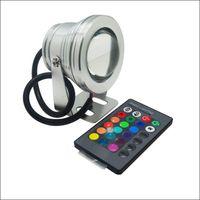 Wholesale Spotlight Housing - LED spotlight 10W RGB LED underwater light Landscape LED lights IP68 aluminum housing AC DC 12V