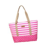 Wholesale Cheap Handbags Women Bags - Women's Pop Handbags Fashion Shoulder Canvas Totes Cheap Bags Stripes Printed Patchwork Shopping Tote Wholesale 2017 New Arrival Accessories