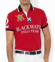 relojes xxl hombre s al por mayor-Nuevo Polo Hombres Negro Reloj Clásico Camisetas Casual personalizado Ajuste de manga corta de algodón Big Horse Camisetas Polo Team S-XXL
