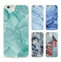 Wholesale Paint Case For Iphone - phone shell marble painted phone shell relief soft shell TPU creative art mobile phone sets