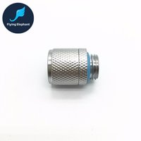 Wholesale Water Quick Connector - Wholesale- 1 piece G1 4 Quick Twist Water Cooling Tube Fitting Connector For 3 8'' 1 4'' 9.5*12.7mm 8*12mm 9.5*15.9mm Host