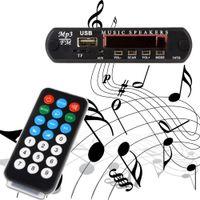Wholesale Radio Jacks - Wholesale- New MP3 Decoder Board Hitam Remote SD MP3 Player Ztv-m011 Remote Control Module FM Usb 2.0 3.5 mm keluar jack