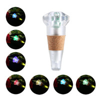 Wholesale Diamond Shaped Bottle - New rechargeable diamond shaped colorful LED Cap light Wine bottle Stopper light atmosphere USB night light for bar party Christmas