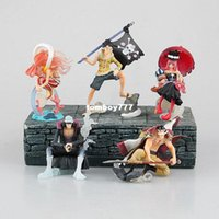 Wholesale One Piece Shirahoshi - NEW hot 6-10cm 5pcs set One piece Edward Newgate Shirahoshi Perona Kuzan luffy action figure toys collection Christmas gift opp