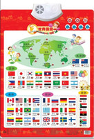 Wholesale Counting Books - National Flag Country Learning read card book Baby sound wall chart Early educational Enlightenment Electronic toy for kid