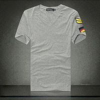 Wholesale Military Shirts Army Green - Fashion army military slim fit air forceT-shirt Men's Casual V Neck T-Shirts Tee Shirts Slim Fit Tops Short Sleeve T Shirt