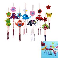 Wholesale Diy Art Toys - Wholesale- JIMMY BEAR 2 Pcs Set DIY Campanula Wind Chime Kids Manual Arts and Crafts Toys for Kids