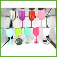 Wholesale Goblet Metal - LOWEST PRICE!! 10oz True North Stainless Steel Wine Glass Double Wall Insulated Metal Goblet With Lid Red Wine Glasses