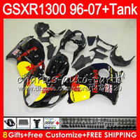 Wholesale Hayabusa Yellow - 8Gifts 23Colors For SUZUKI Hayabusa GSXR1300 96 07 2002 2003 2004 15NO76 black Yellow GSX R1300 GSXR-1300 GSXR 1300 2005 2006 2007 Fairing