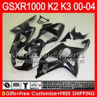 Wholesale Matte Black Fairings Gsxr - 8Gifts Matte Black 23Colors For SUZUKI GSXR1000 00 01 02 03 04 K2 14HM36 GSXR-1000 GSX R1000 2000 2001 2002 K3 GSXR 1000 2003 2004 Fairing