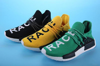 Wholesale Original Pharrell Williams NMD Human Race Running Shoes NMD Runner NMD men and women Trainers Sneakers Boots Size