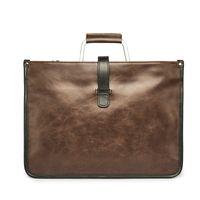 Wholesale Large Brown Leather Laptop Briefcase - Wholesale- New Vintage Leather Brown Black Men Briefcase Business Laptop Tote Bag Men's Messenger Bags Shoulder Bag Large Handbag
