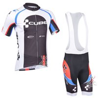 Wholesale Team Cube Cycling Jerseys - 2017 Tour de France CUBE team Summer Cycling Jerseys Ropa Ciclismo Breathable Bike Clothing Quick-Dry Bicycle Sportwear Short sleeves