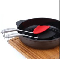 Wholesale Wok Stainless Steel - Non-Stick Silicone Spatula Wok Turner With Stainless Steel Handle Pancake Turner Shovel Kitchen utensils Spatula Wok Turner KKA1931