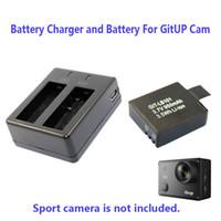 Wholesale Rechargable Cameras - Wholesale- 950mAh Backup Rechargable Li-on Battery For GitUp Git2 Sport Camera DV+1pcs Battery Charger Free Shipping!