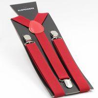 Wholesale Belts Braces Mens - Wholesale-Mens Suspenders Y-back Adjustable Suspender Clip-on Elastic Brace Women Belts Straps 40 Colors 2.5X100CM
