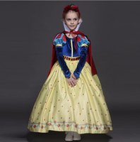 Wholesale Tencel Chiffon - New High quality Kids princess sofia dress for baby girls snow White Cosplay Costume children Carnival party tutu dresses