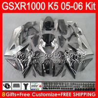 Wholesale Suzuki K5 Corona - 8 Gifts 23 Colors Bodywork For SUZUKI GSXR1000 05 06 GSXR-1000 12HM34 GSX-R1000 K5 GSXR 1000 2005 TOP CORONA 2006 05 06 Fairing Kit Body
