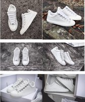 Wholesale French Print Fabric - High Quality White Low Top Arena Sneakers Shoes,Fashion Men Women Casual Walking Outdoor Trainer Zapatos Hombre French Style Kanye West Shoe