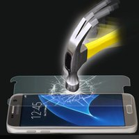 Wholesale For Samsung Galaxy s7 S7 Edge TEMPERED GLASS Screen Not Full Cover Screen Screen Protector with H Hardness Scratch Resistant Surface