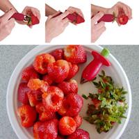 corer de morango venda por atacado-Morango Tomate Corer Caule Huller Removedor Caules Removedor De Morangos Alimentador De Frutas Ferramentas De Escavação Vegetal WX-C31