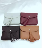 Wholesale Burgundy Purses - Popular classic his mobile phone bag Fashion change purse Sue han edition tassel bag branch lines