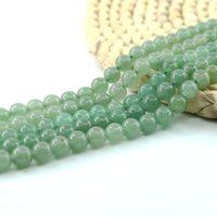 Wholesale Natural Pink Jade - Natural Green Aventurine Round Beads SemiPrecious Gemstone Beads for Jewelry Making 4 6 8 10mm Full Strand 15 inch L0138#