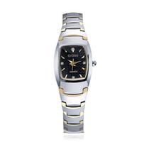Wholesale Dom Tungsten - Luxury Watches Bussinis Tungsten Steel Womens Chronograph Watch Quartz Watches Clock Waterproof Wristwatch Tonneau Shape DOM Brand WHDQ007