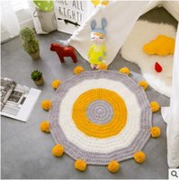 Wholesale Nordic Knit Style - High Quality Handmade Knitting Wool Balls Nordic Style Children Bedroom Decor Crawling Blanket Floor Mat Games Carpet Room Decoration