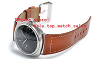 Wholesale Hot Watch Pam - Hot Selling Top Quality Factory Supplier Luxury Watches Stainless Steel Black Dial Pam 183 00183 Pam183 automatic Mens Men's Watch Watches